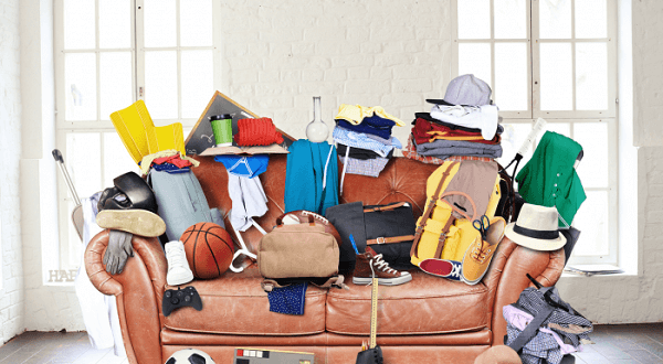 cluttered areas