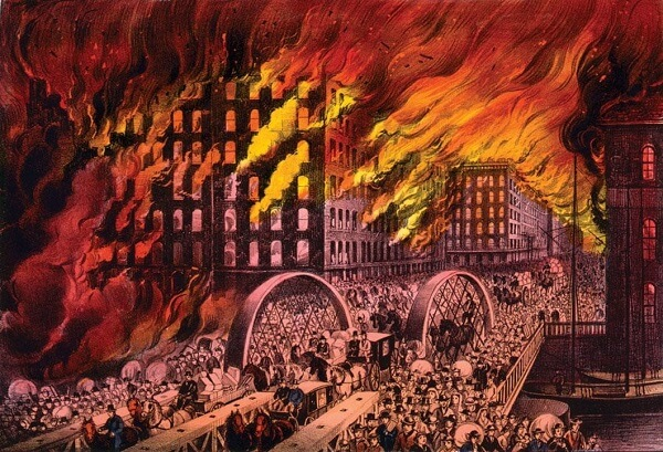 Do you know what caused the Great Chicago Fire