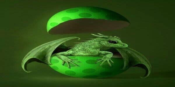Firnen the green male dragon