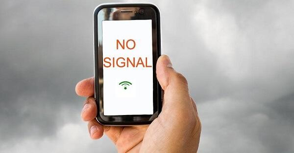 Lack of phone signals