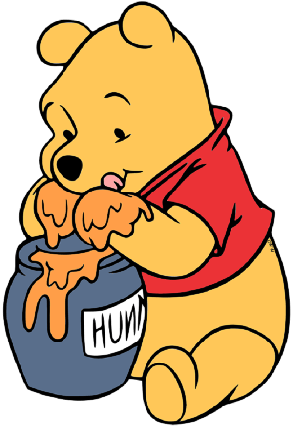 Pooh hold all that honey with his paws alone