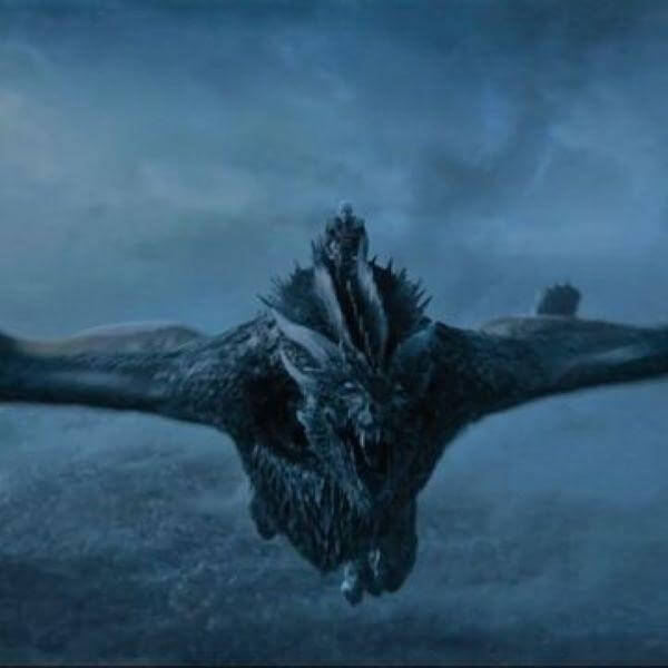 Viserion the ice dragon