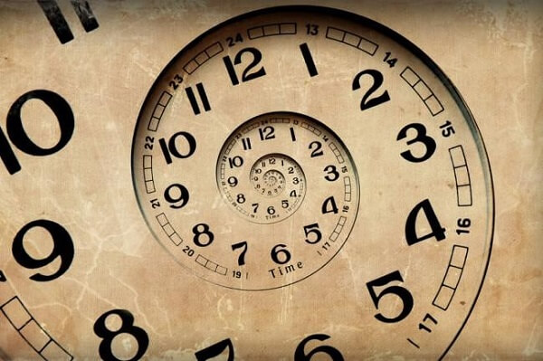 What can only be noticed twice every minute, once every thousand years, and once every minute