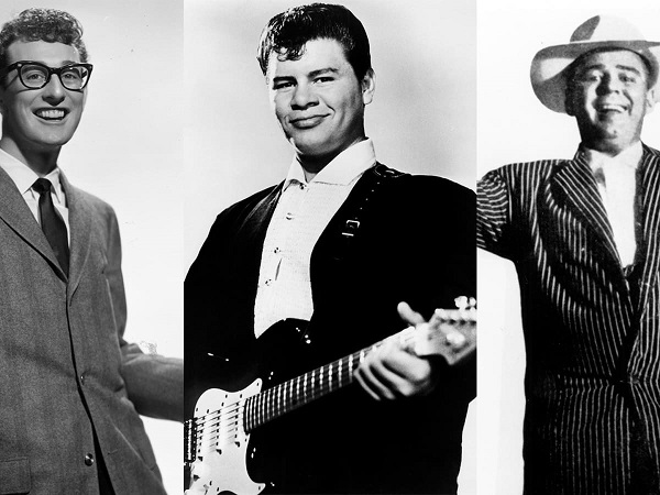 Buddy Holly, Richardson, and Ritchie Valens before their death