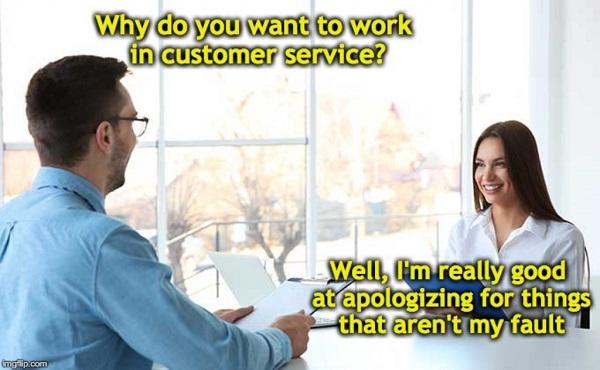 Customer service memes depicting the employees' true feelings
