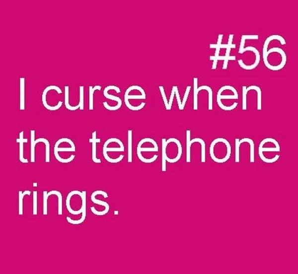 Hating the telephone bell