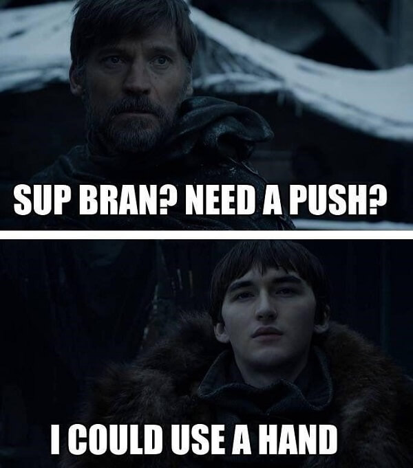 One of the most iconic moments in season 3 was when Jaime Lannister