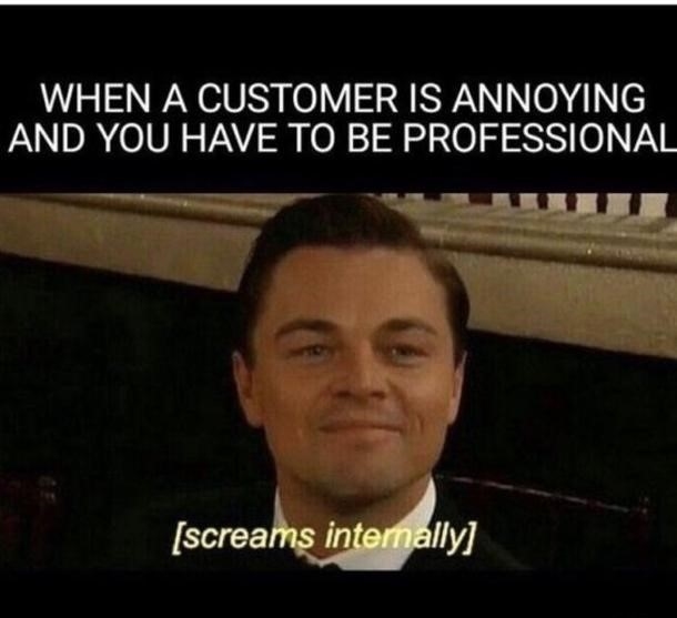 Staff working in the customer services