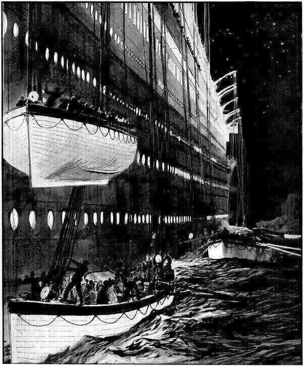 THE CAPACITY TO KEEP LIFEBOATS ON TITANIC