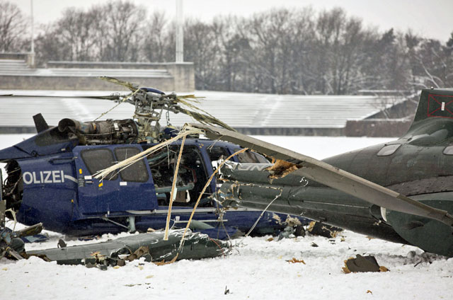 Two news helicopters collided