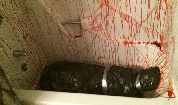 dead body prank