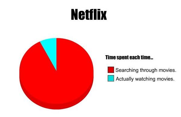 time spent on netflix pie chart