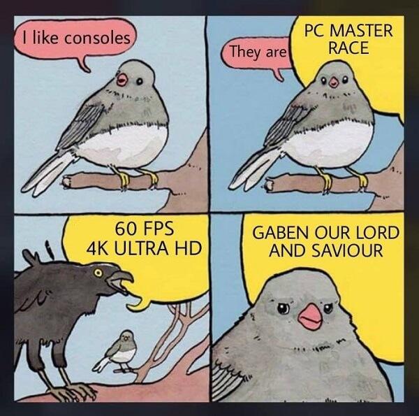 PC gaming screaming crow