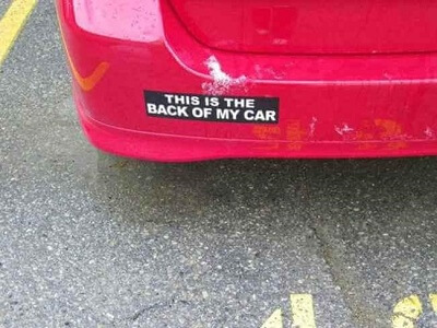 back of my car