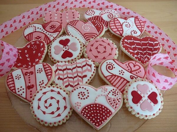 love on the cookies