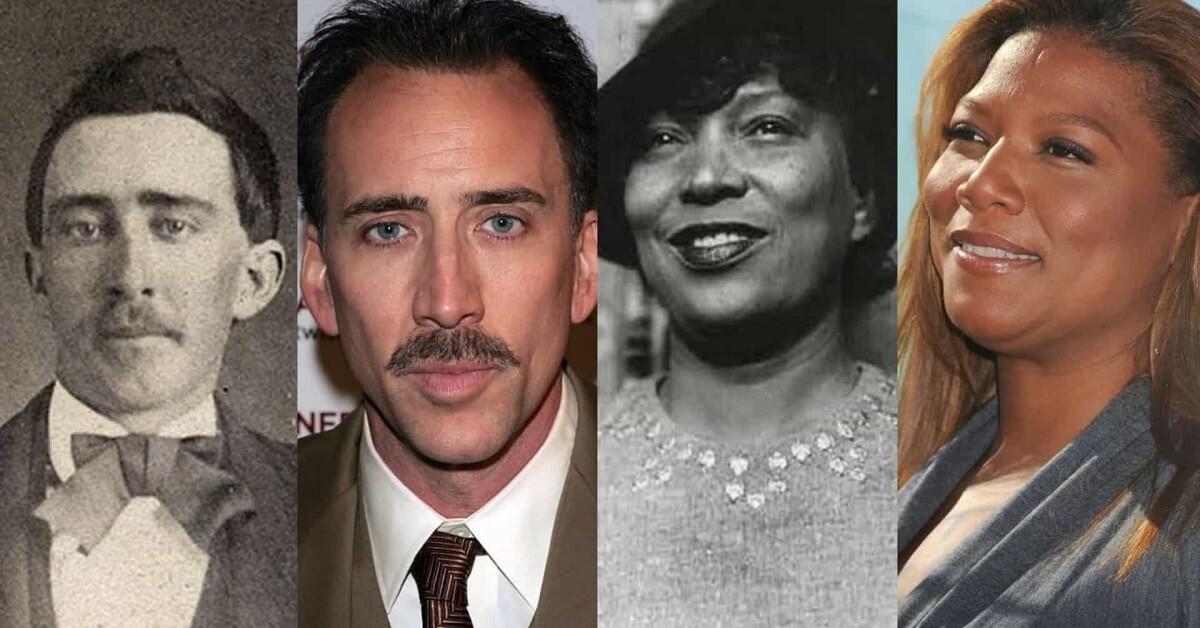 Celebrity historical doppelganger