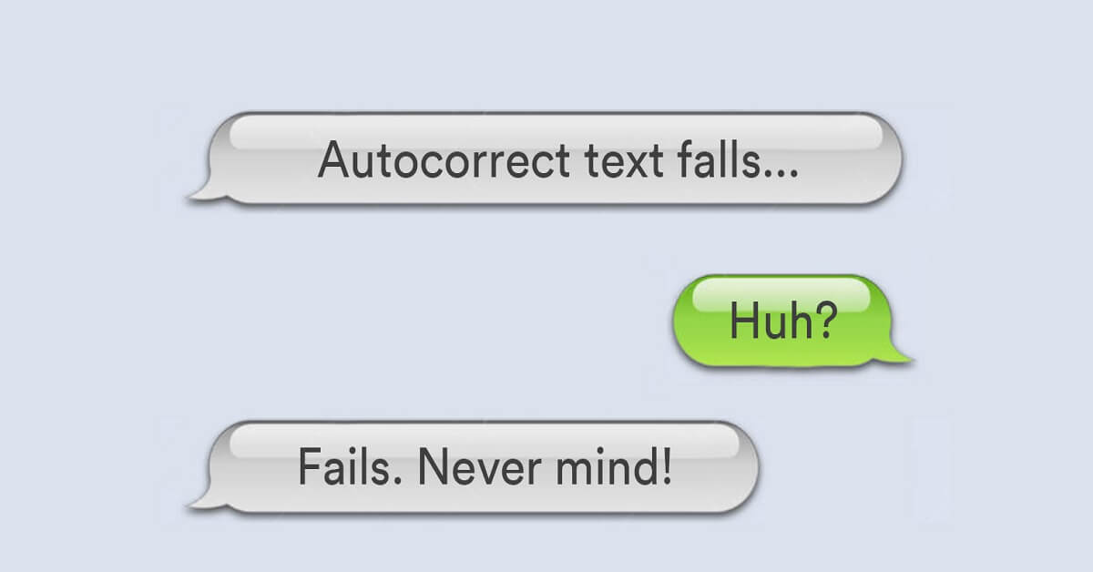 autocorrect fails and awkward parent texts