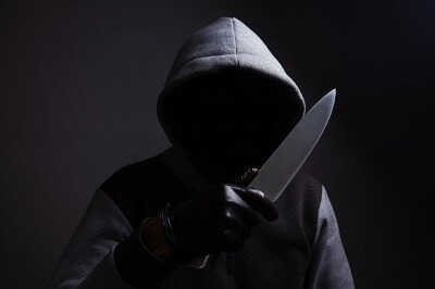 A man with knife