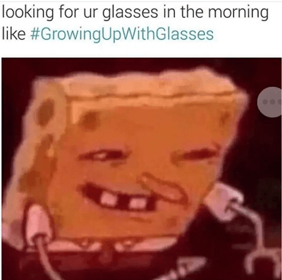 glasses in the morning